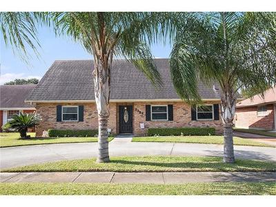 Kenner Single Family Home For Sale: 3365 Cannes Place