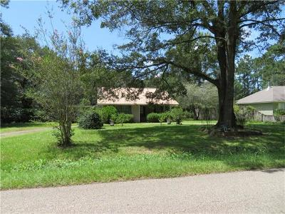 Madisonville LA Single Family Home For Sale: $130,000