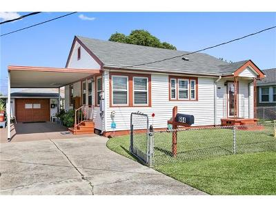 Marrero Single Family Home For Sale: 604 Carmadelle Street