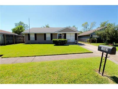 Westwego Single Family Home Pending Continue to Show: 133 Marie Drive