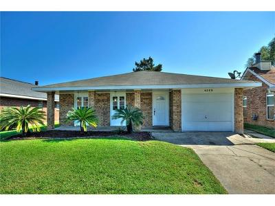 Kenner Single Family Home For Sale: 4328 California Avenue