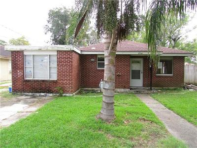 Kenner Single Family Home For Sale: 1714 Clay Street