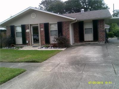 Kenner Single Family Home For Sale: 4008 Arkansas Avenue