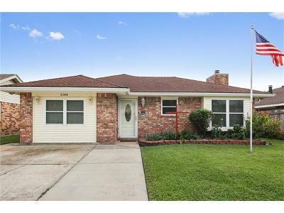 Marrero Single Family Home For Sale: 5144 Oak Bayou Avenue