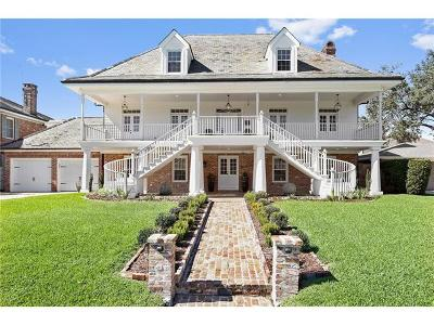 New Orleans LA Single Family Home For Sale: $1,350,000
