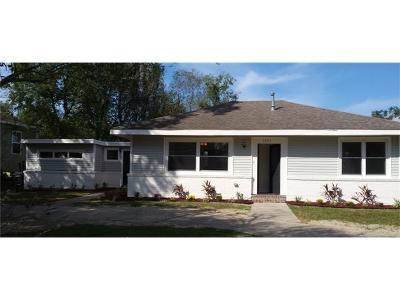 New Orleans Single Family Home For Sale: 1751 Pratt Drive