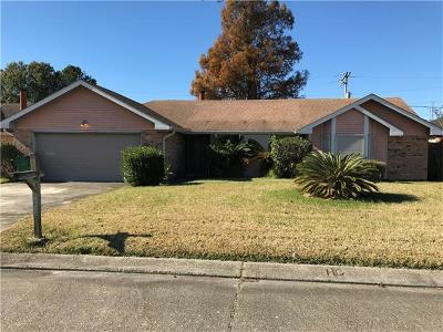 Westwego Single Family Home For Sale: 1252 Olde Oaks Drive