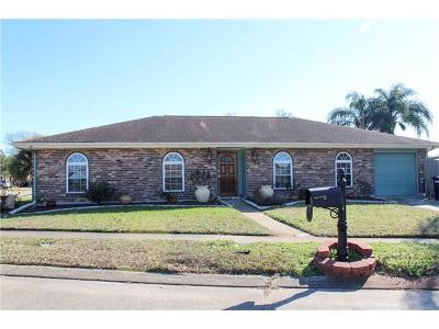 Kenner Single Family Home For Sale: 3346 Chateau Boulevard