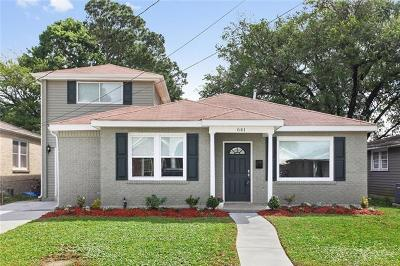Metairie Single Family Home For Sale: 641 E William David Parkway