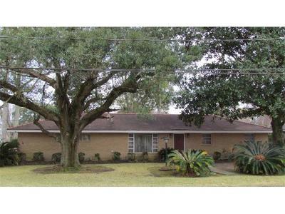 Marrero Single Family Home For Sale: 2801 Dolores Drive
