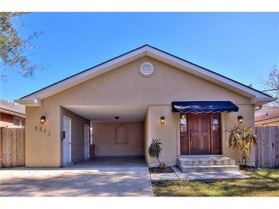 New Orleans Single Family Home For Sale: 6571 Bellaire Drive