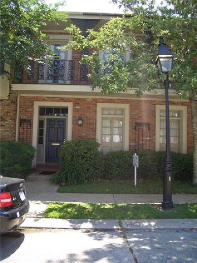 Metairie Townhouse For Sale: 326 Rue St Peter
