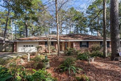 Mandeville Single Family Home For Sale: 345 Jasmine Drive