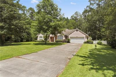 Mandeville Single Family Home For Sale: 68366 Abney Drive