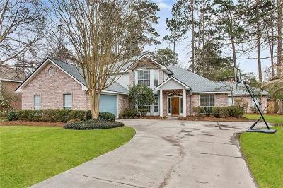 Mandeville Single Family Home For Sale: 7038 Edgewater Drive