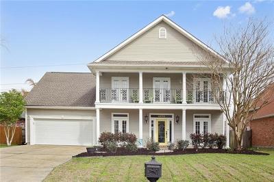 Gretna Single Family Home For Sale: 1029 Lake Frances Drive