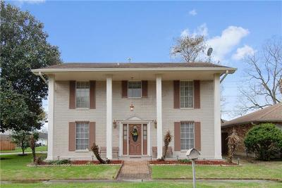 Kenner Single Family Home For Sale: 3901 Lake Trail Drive