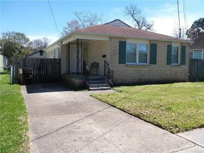 Kenner Single Family Home For Sale: 1100 Webster Street