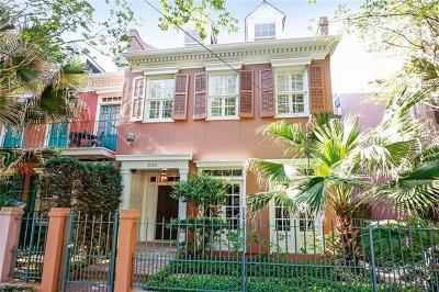 New Orleans Townhouse For Sale: 3115 Prytania Street