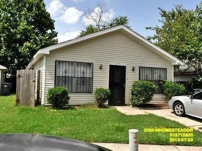 New Orleans Single Family Home For Sale: 3550 N Homestead Drive