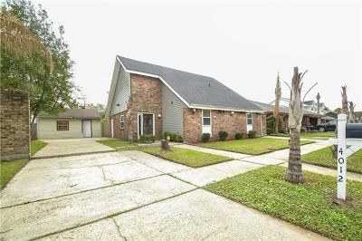 Kenner Single Family Home For Sale: 4012 Lake Trail Drive