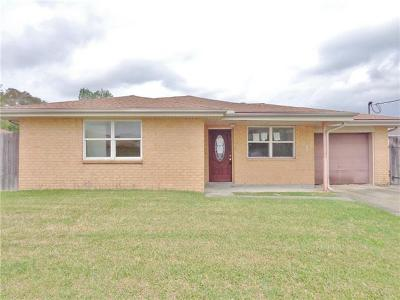 Marrero Single Family Home For Sale: 2821 Cardinal Drive