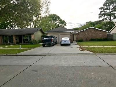 Gretna Single Family Home For Sale: 832 Bellemeade Street