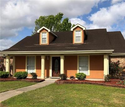 Destrehan Single Family Home Pending Continue to Show: 480 Rosedale Drive East