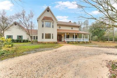 Slidell Single Family Home For Sale: 35107 Bishop Road
