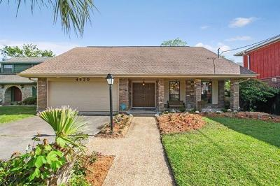 Metairie Single Family Home For Sale: 4620 Avron Boulevard