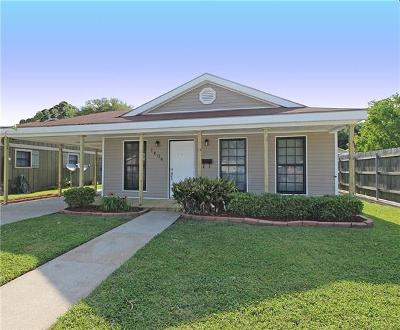 Kenner Single Family Home For Sale: 1606 Clay Street