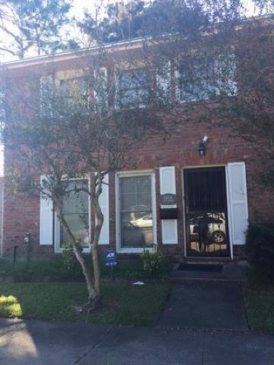 Jefferson Parish, Orleans Parish Condo For Sale: 230 Terry Parkway #H