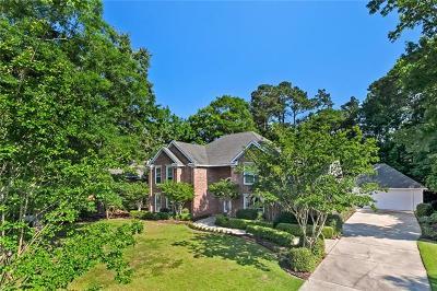 Mandeville Single Family Home For Sale: 711 Tete Lours Drive