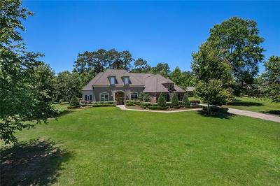 Covington Single Family Home For Sale: 134 Tchefuncte South Drive