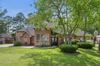 Mandeville Single Family Home For Sale: 1835 E Ridge Drive