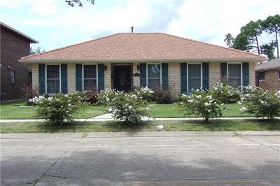 Kenner Single Family Home For Sale: 7 Driftwood Boulevard