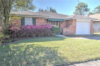 Metairie Single Family Home For Sale: 1812 Persimmon Avenue