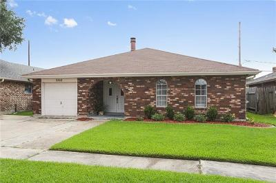 Kenner Single Family Home For Sale: 3352 Castle Street