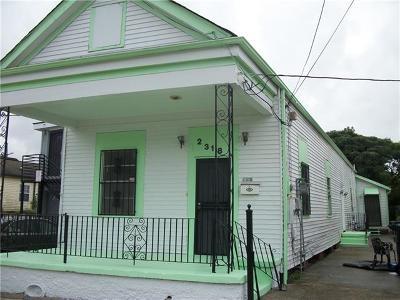 Single Family Home For Sale: 2318 Gravier Street