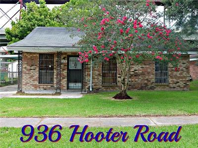 Westwego Single Family Home Pending Continue to Show: 936 Hooter Road