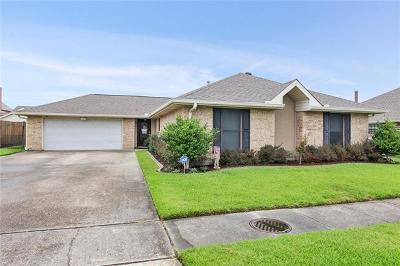 Marrero Single Family Home For Sale: 2544 Jarrot Drive