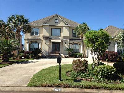 Slidell Single Family Home For Sale: 154 Lighthouse Point