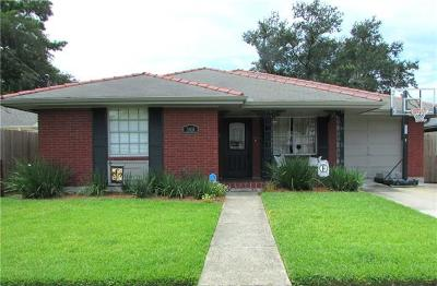 Single Family Home For Sale: 3108 Metairie Court Parkway