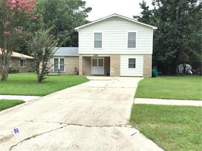 Mandeville Single Family Home For Sale: 219 Walnut Street