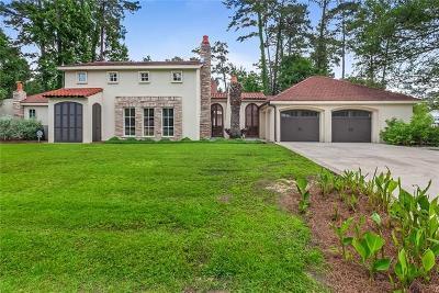 Mandeville Single Family Home For Sale: 137 E Ruelle Drive