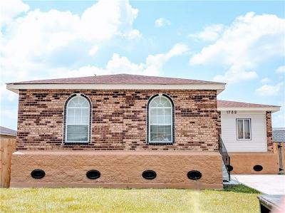 Marrero Single Family Home For Sale: 1732 Burnley Drive