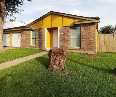 Harvey Single Family Home For Sale: 3821 Melissa Drive