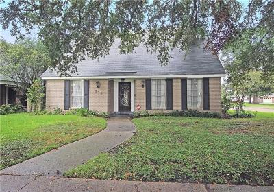 River Ridge, Harahan Single Family Home For Sale: 836 Gordon Avenue