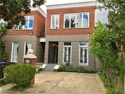 New Orleans Townhouse For Sale: 4920 Coliseum Street