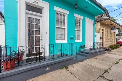 Single Family Home For Sale: 708 Mandeville Street